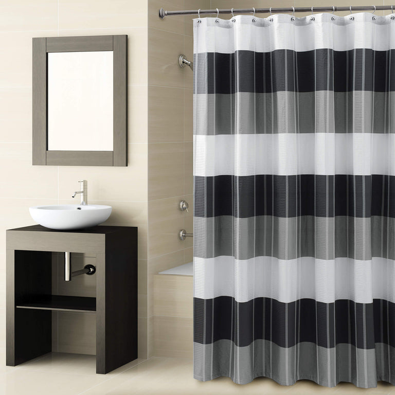 Fairfax Black Shower Curtain