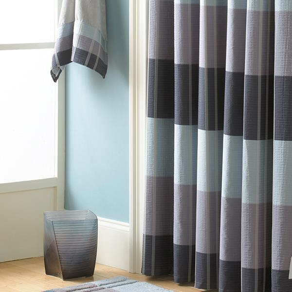 Fairfax Slate Shower Curtain