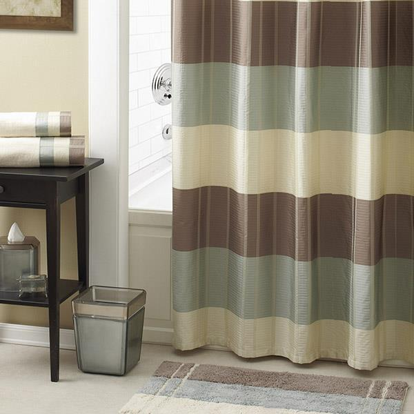 Fairfax Taupe Shower Curtain