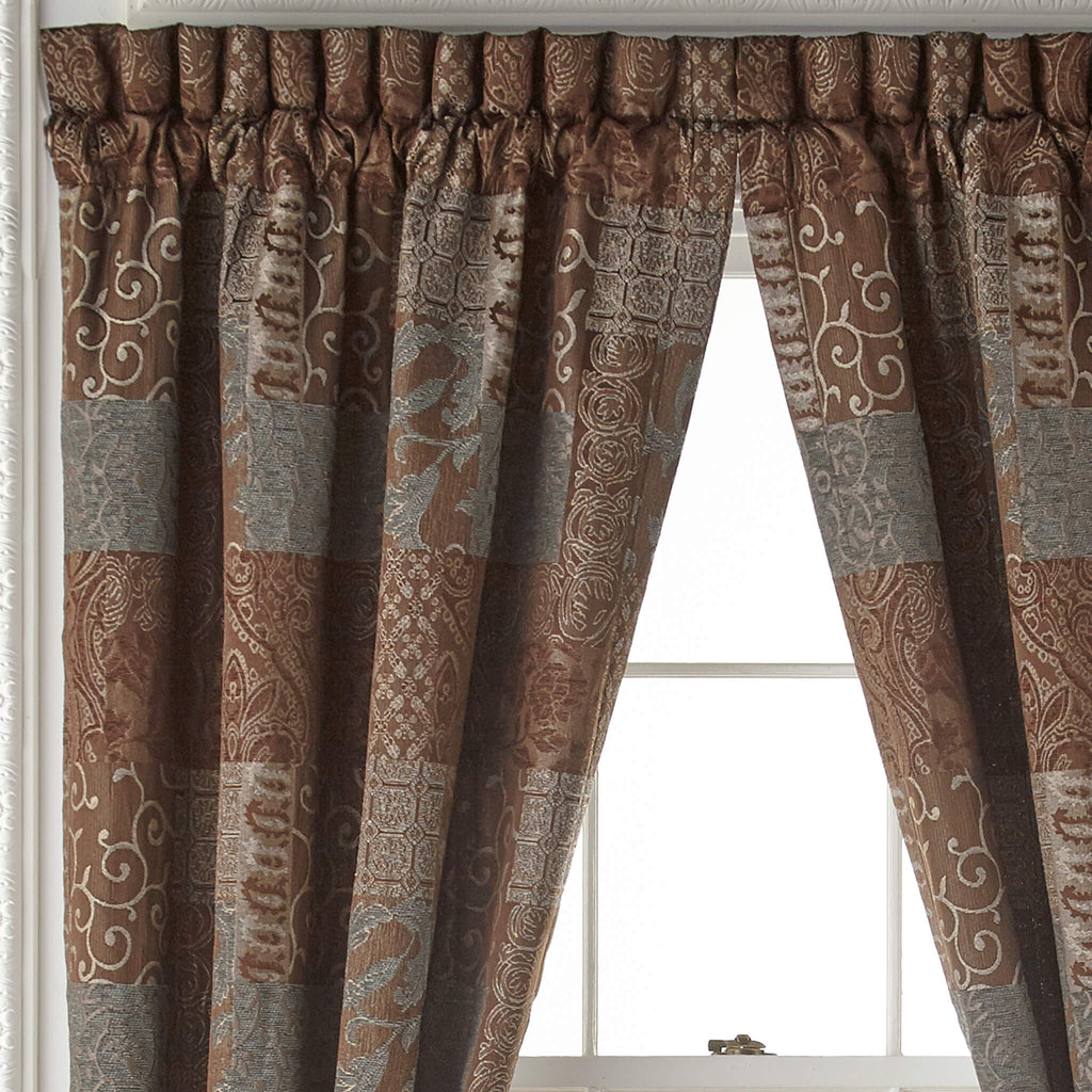 Galleria Brown Curtain Panel Pair