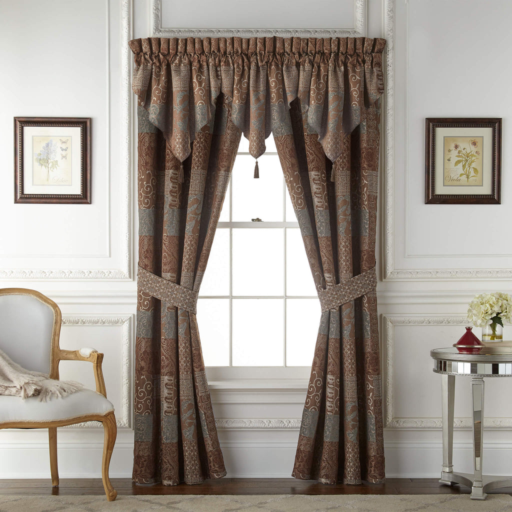 Galleria Brown Ascot Valance