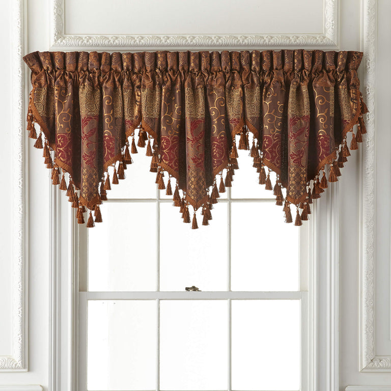 Galleria Red Ascot Valance
