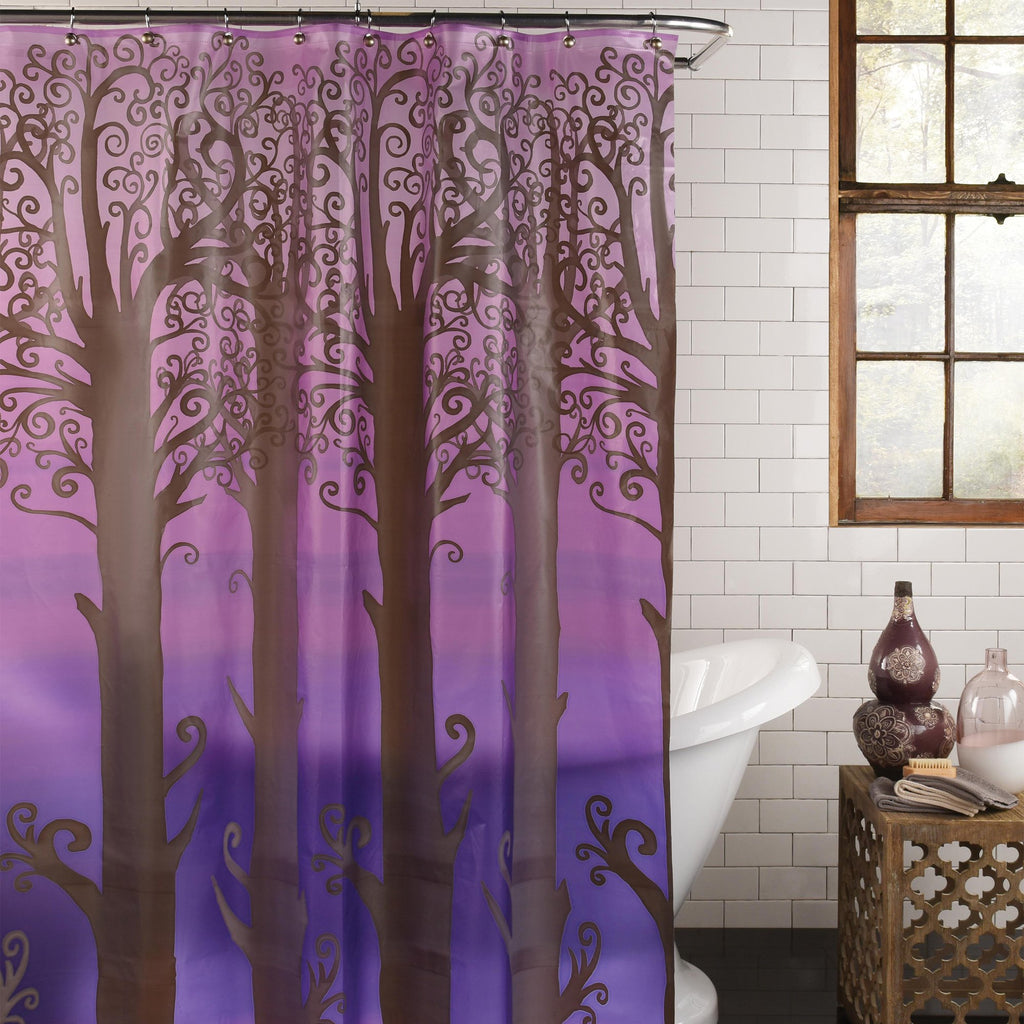 Into the Woods PEVA Shower Curtain by Excell