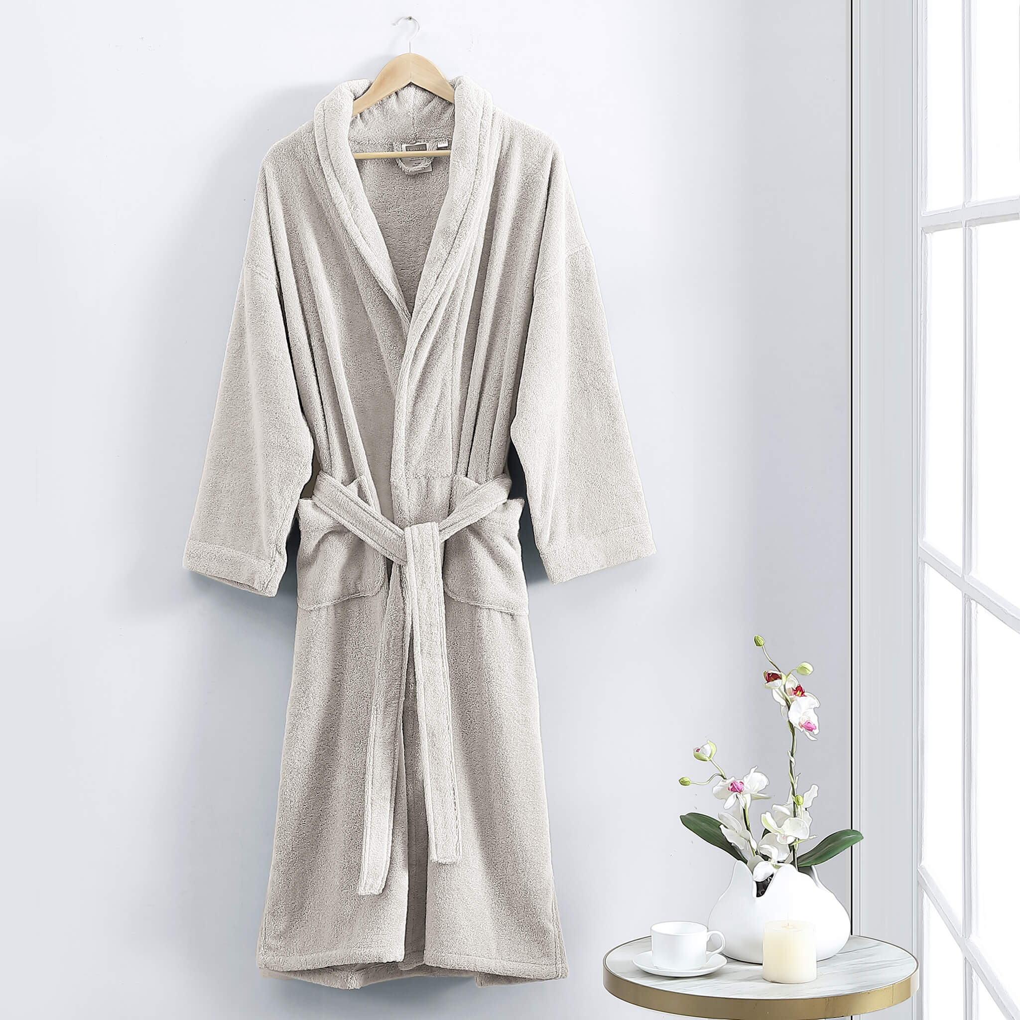 Lotus Organic Cotton Robe Set - Linen