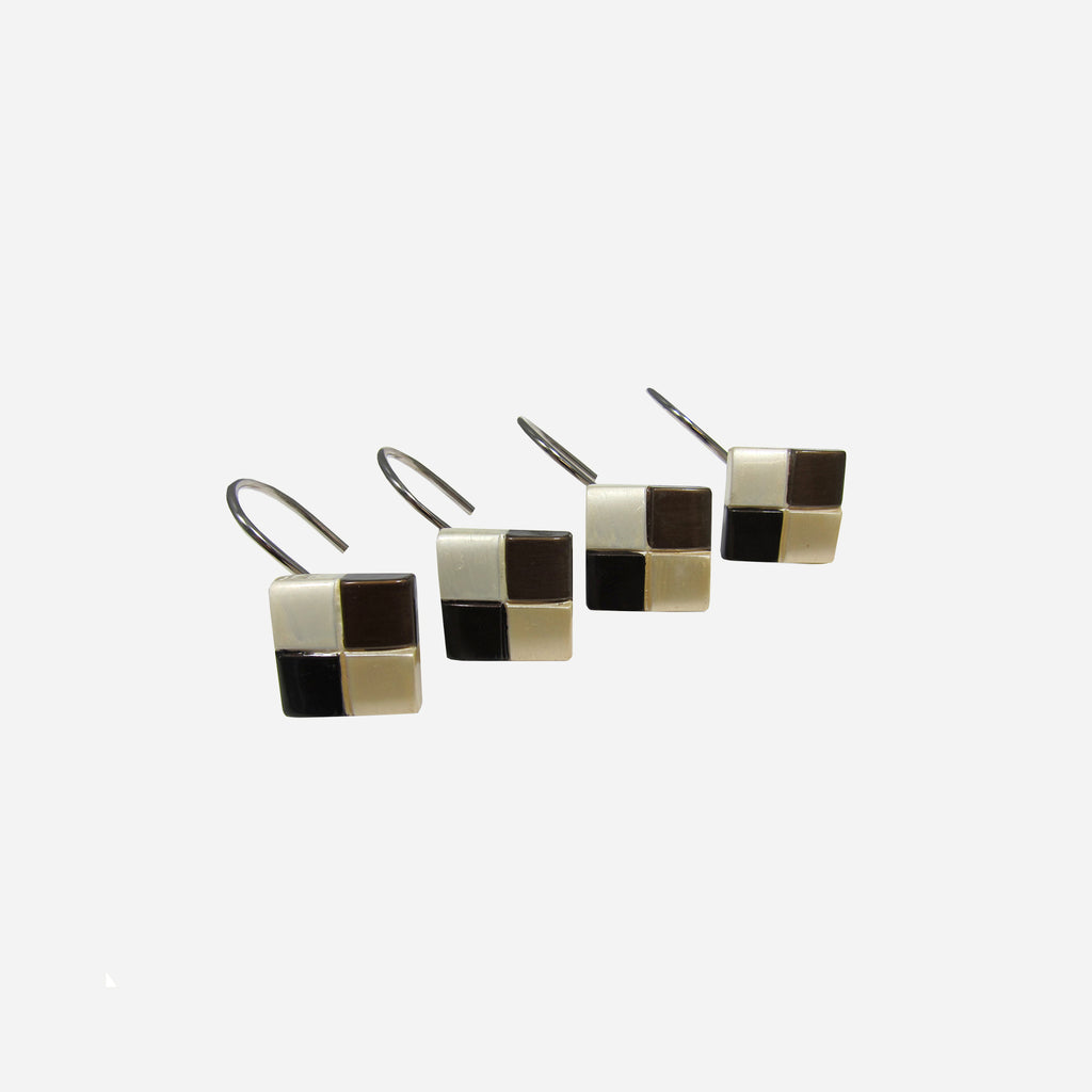 Mosaic Shower Curtain Hooks