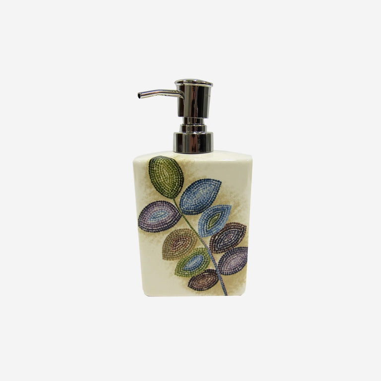 Mosaic Leaves Lotion Dispenser