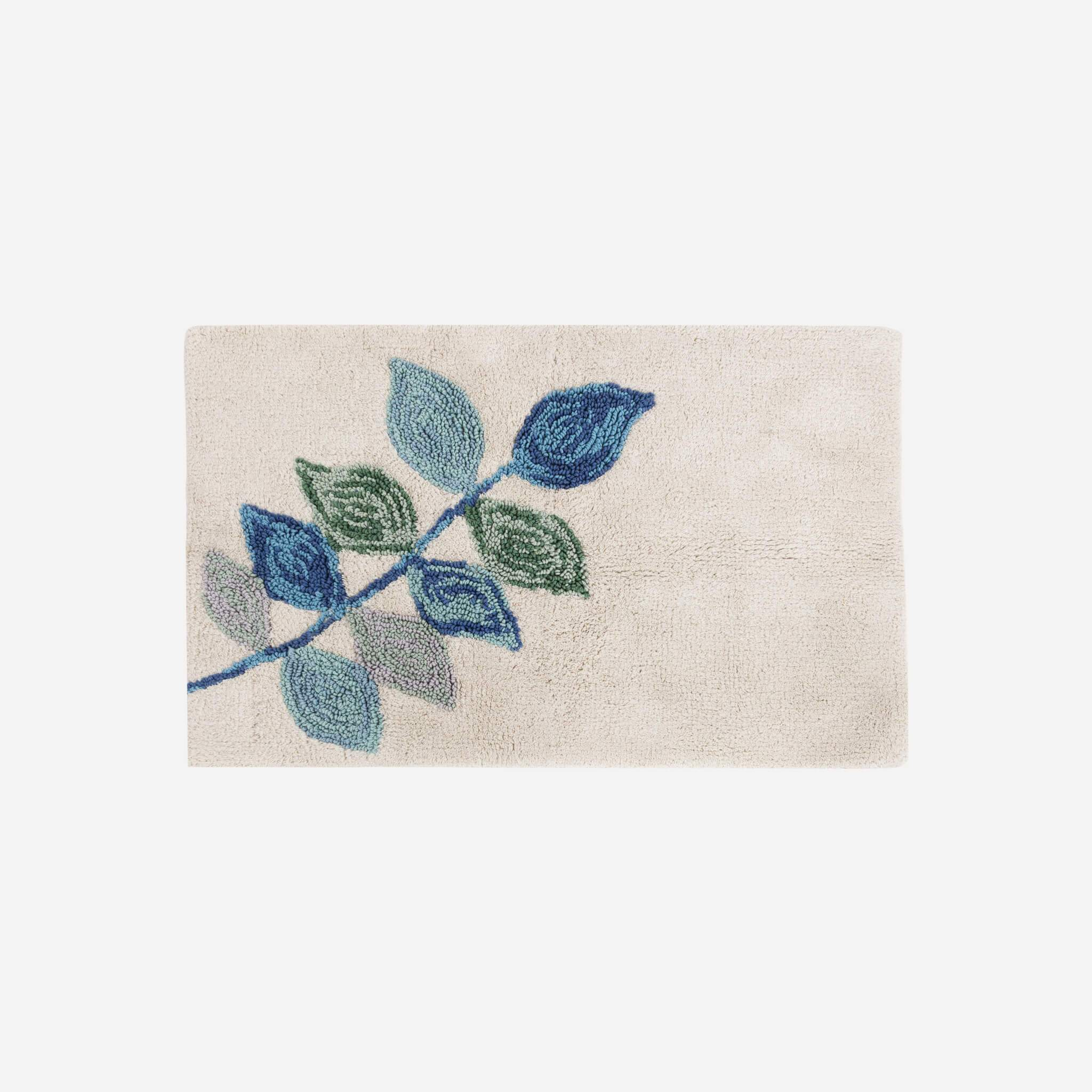 Mosaic Leaves Spa Bath Rug