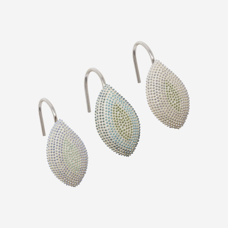 Mosaic Leaves Spa Shower Curtain Hooks