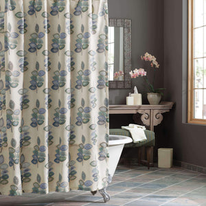 Mosaic Leaves Spa Shower Curtain