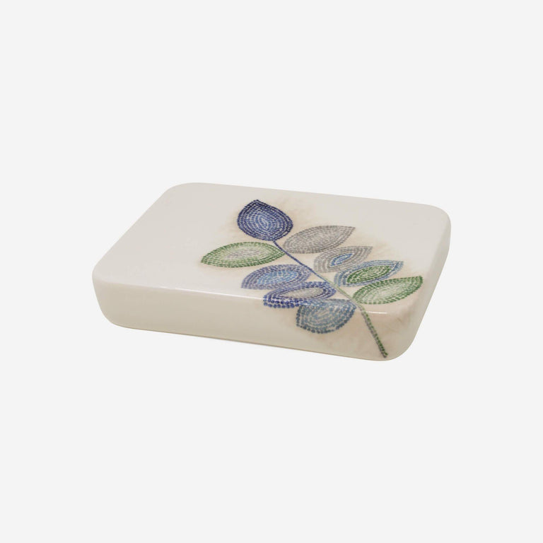 Mosaic Leaves Spa Soap Dish