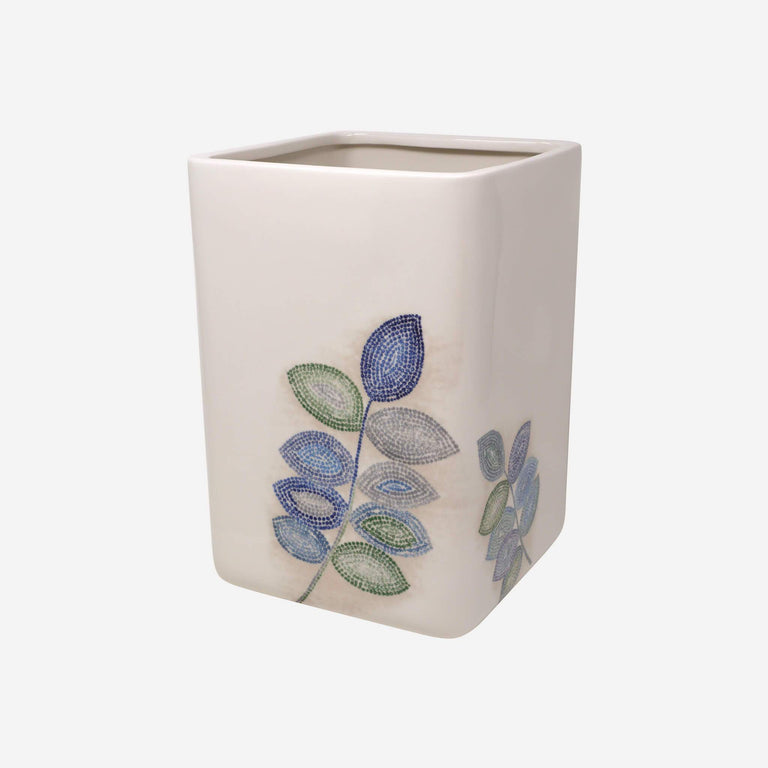 Mosaic Leaves Spa Wastebasket
