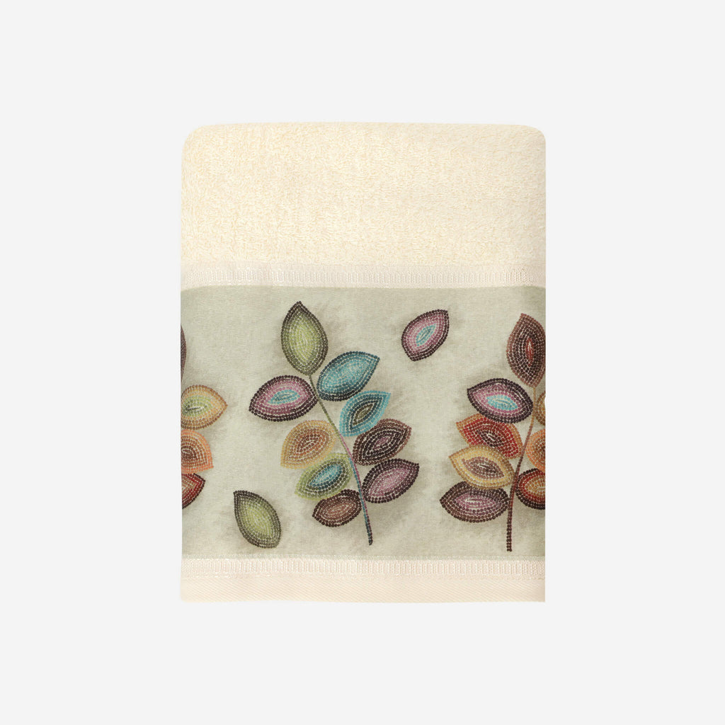 Mosaic Leaves Bath Towel