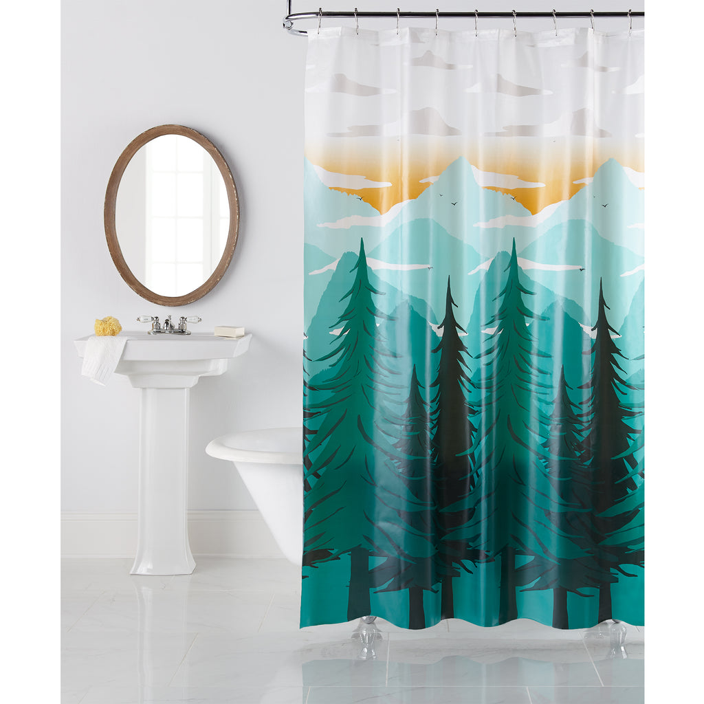 Mountain Majesty PEVA Shower Curtain by Excell