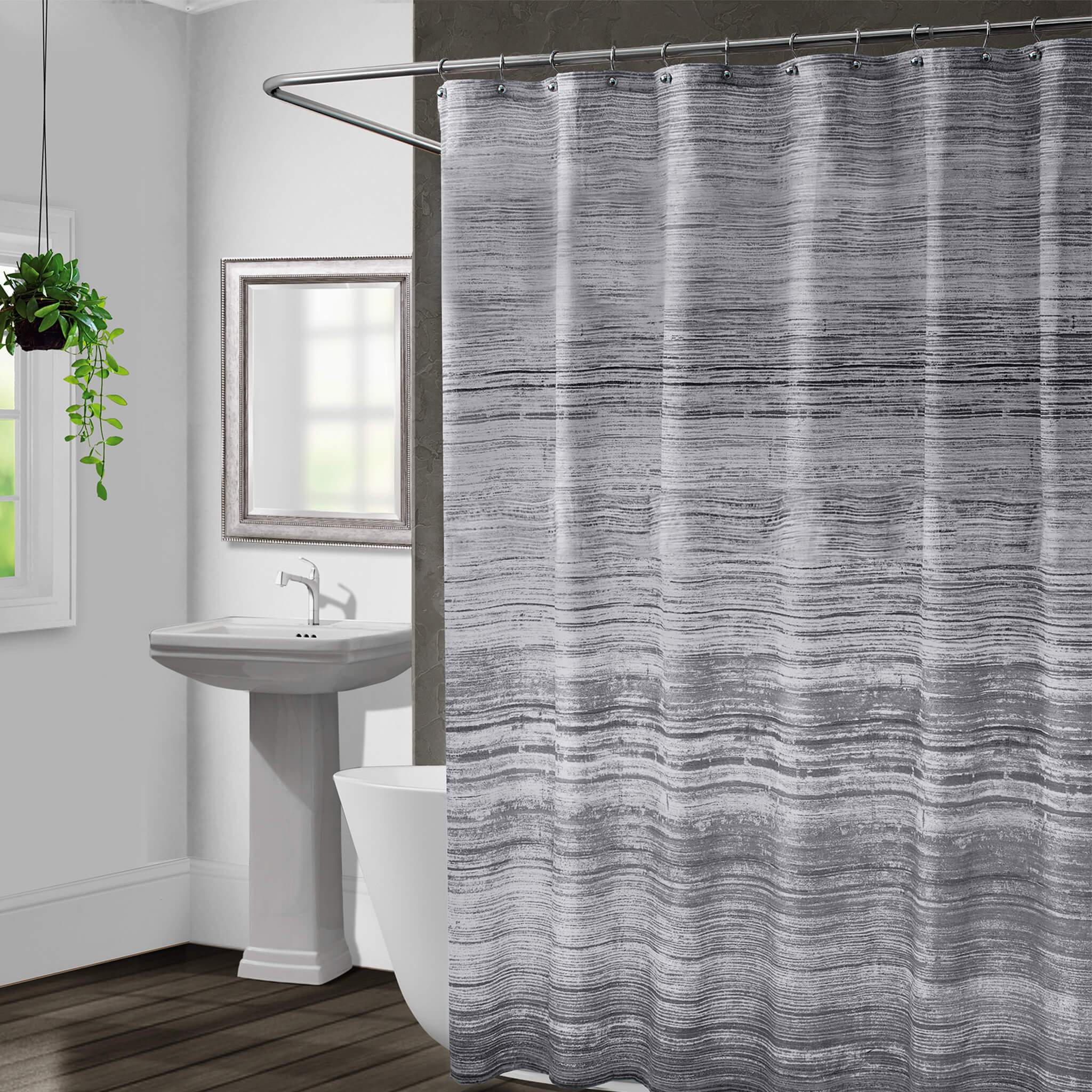 Nomad Grey Shower Curtain