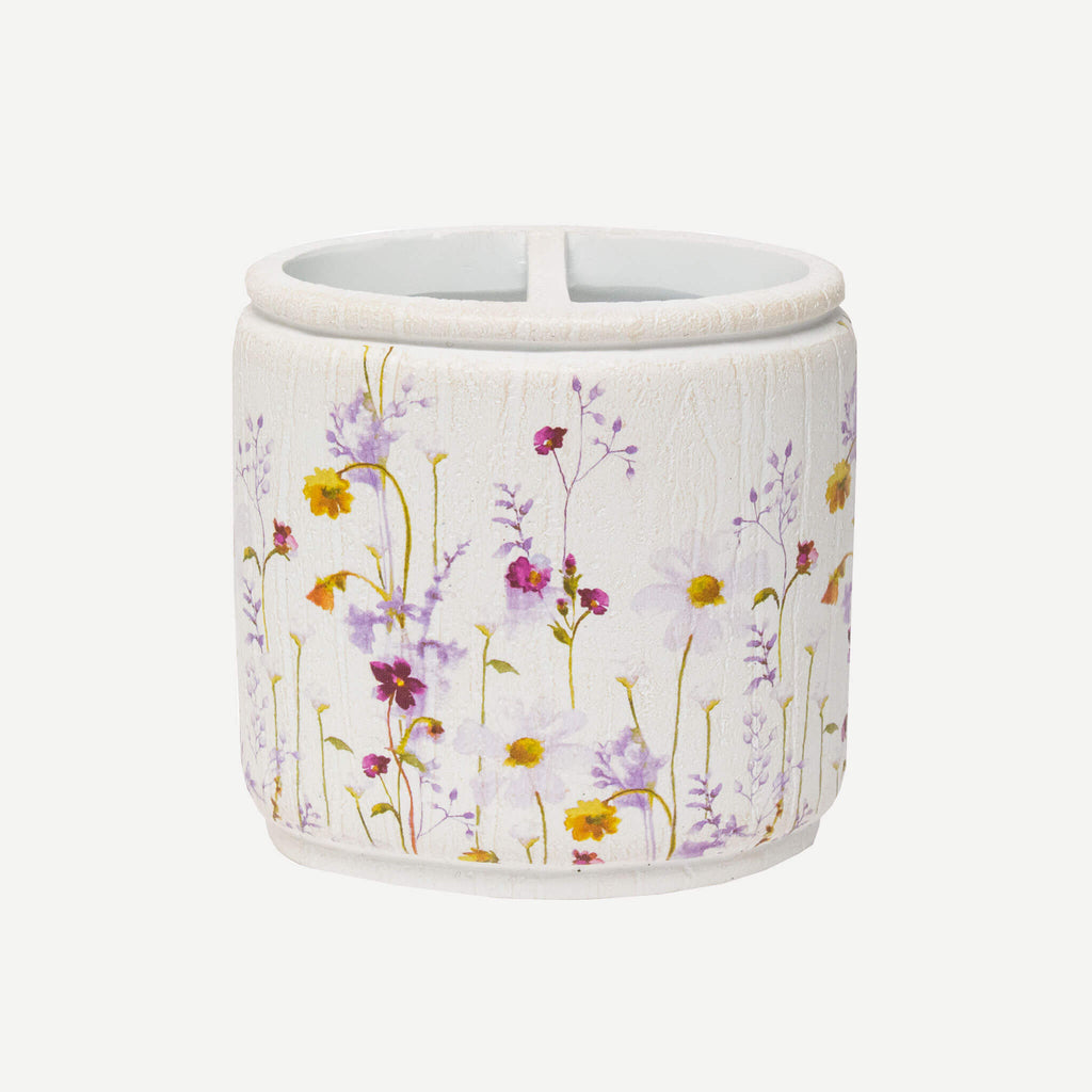 Pressed Flowers Toothbrush Holder