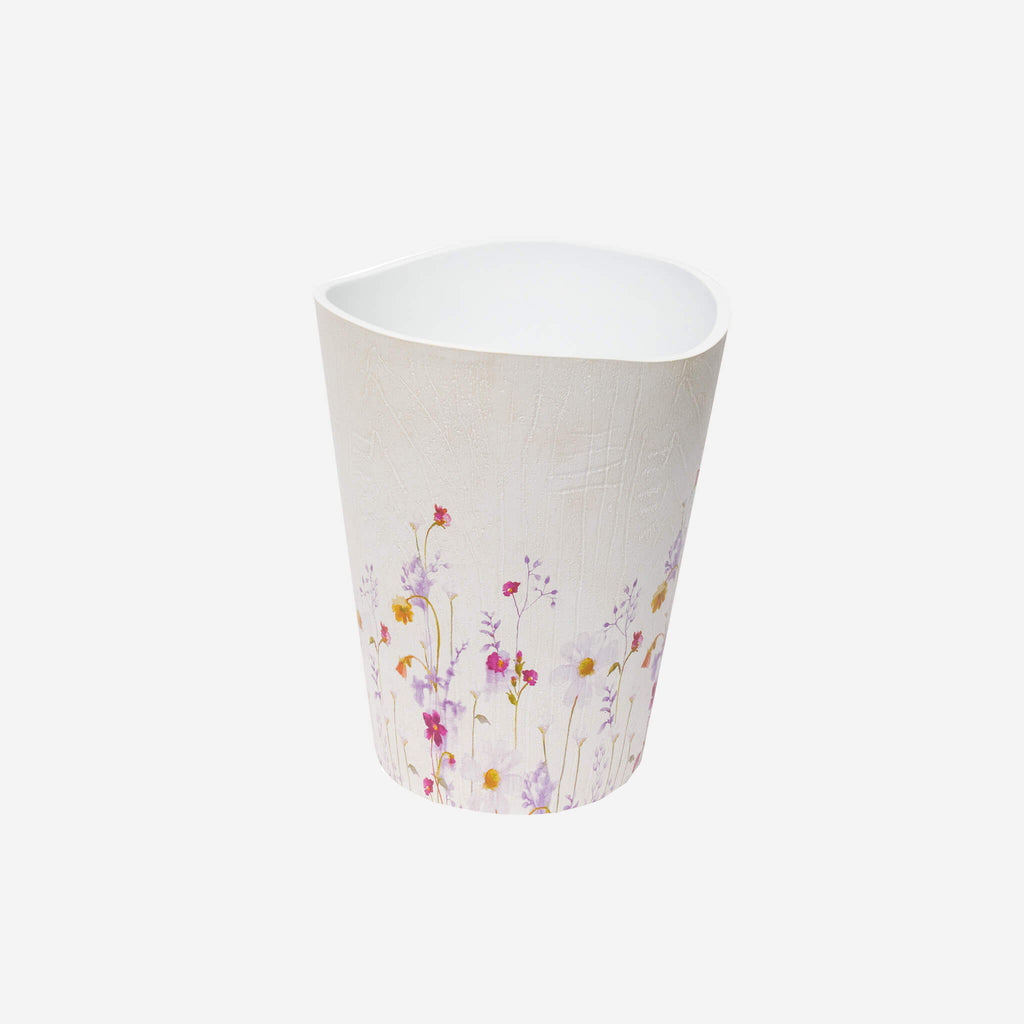 Pressed Flowers Wastebasket