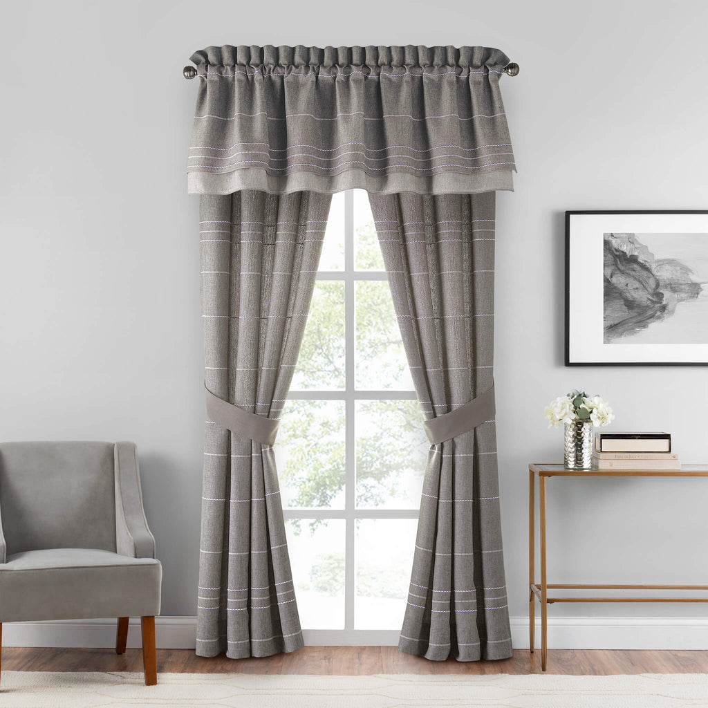 Siena Straight Double Layer Valance