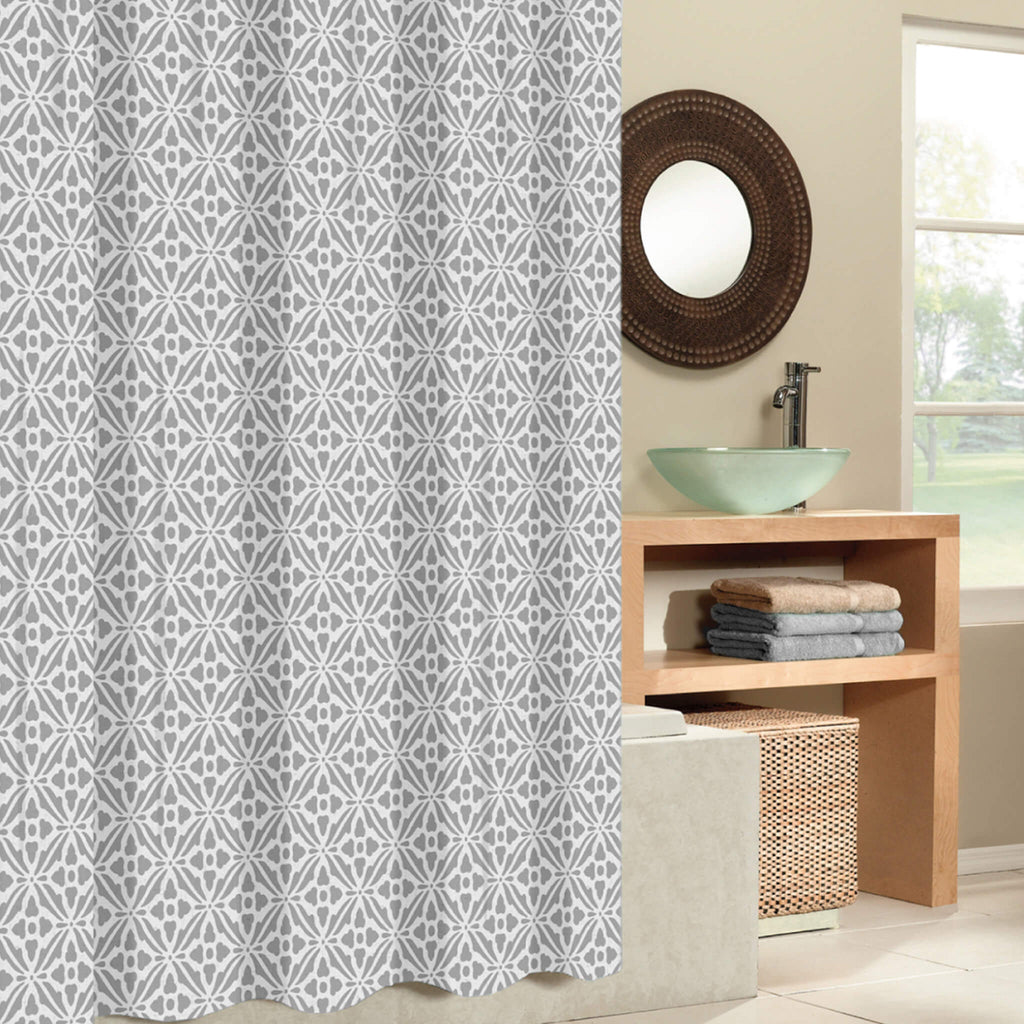 Tiles Fabric Shower Curtain
