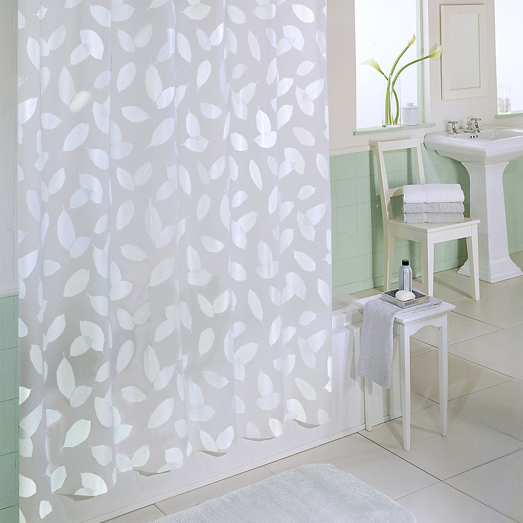 Modern Leaf Shower Curtain
