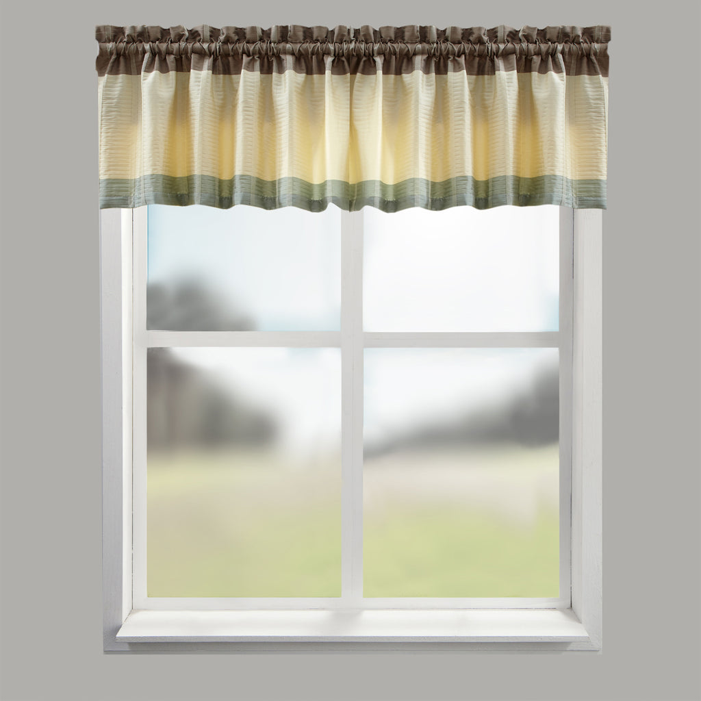 Fairfax Taupe Tailored Valance