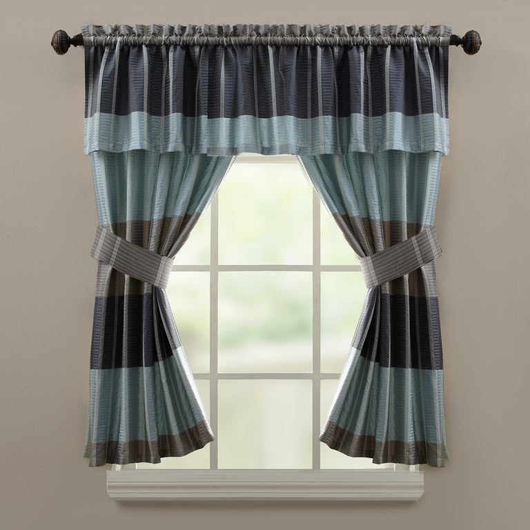 Fairfax Slate Tailored Valance