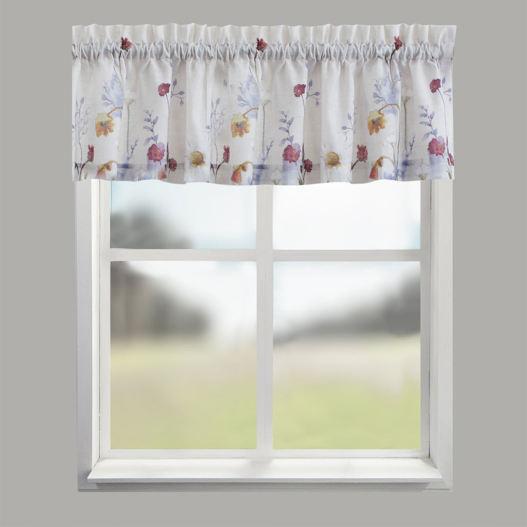Pressed Flowers Window Valance