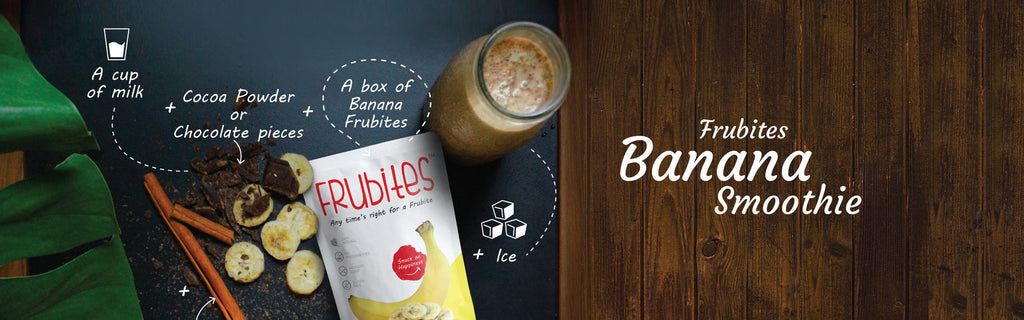 HEALTH-MEETS-TASTE IN THIS QUICK AND EASY CHOCOLATE AND FRUBITES BANANA SMOOTHIE!