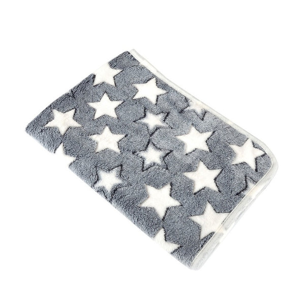 Fleece Star Print Dog Blanket