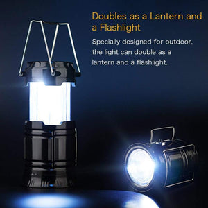 (50% OFF)3-in-1 Camping Lantern,Portable Outdoor LED Flame Lantern Flashlights