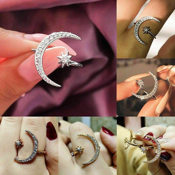 BUY 1 GET 1 FREE!Moon & Star Ring (Size Adjustable)