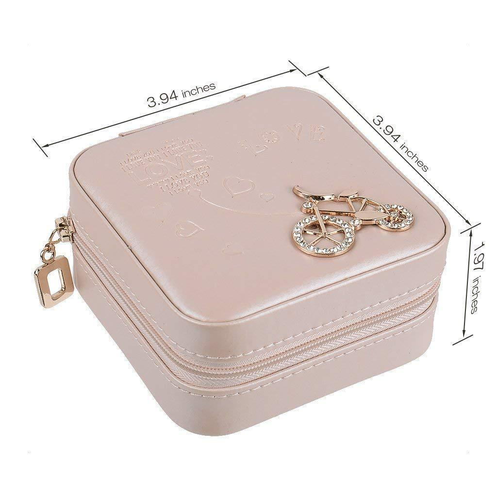 ON SALE! Portable Faux Leather Travel Jewelry Box