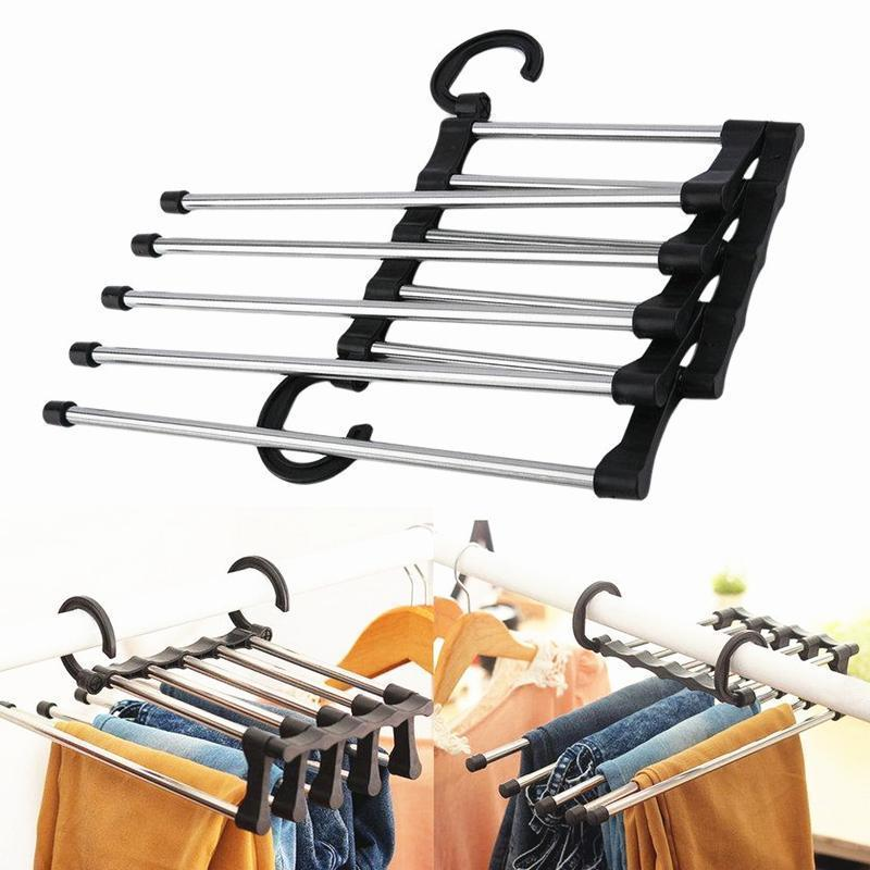 Magic Multi-function Stainless Steel Pants Hangers