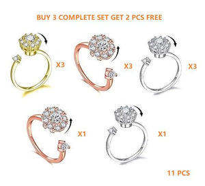 (BUY 1 GET 1 FREE) New Design Sterling Silver Spinning Rings
