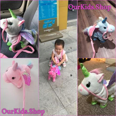 Reviews ELECTRIC WALKING UNICORN PLUSH TOY FOR CHILDREN CHRISTMAS GIFTS