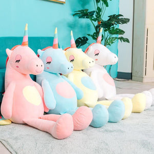 BIG SOFT UNICORN STUFFED PLUSH TOYS