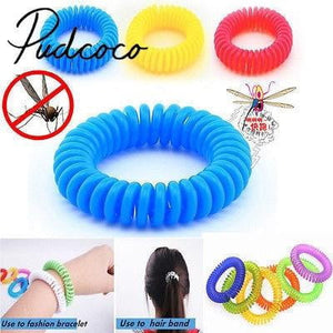 Helen115 Anti Mosquito Insect Repellent Wrist Hair Band Bracelet Camping Outdoor 1pcs - ourkids-shop