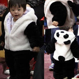 2016 New Cute Animal Panda One Piece Long Sleeve Cotton Newborn Baby Romper Baby Costume Clothing Clothes - ourkids-shop