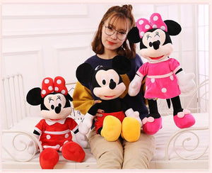 Mickey or minnie Mouse Plush Toy Doll