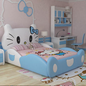 Modern design hello kitty pink leather children bedroom for girls - ourkids-shop
