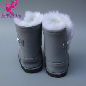"18"" 45CM American Girl Doll Fur Snow Boots shoes for Alexander doll accessory zapf baby born doll shoes girl gift - ourkids-shop"
