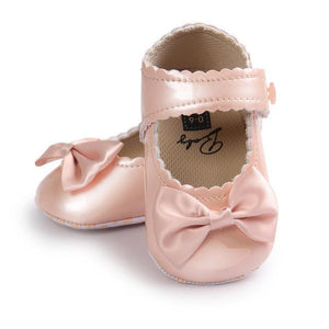 Baby shoes Girl Bowknot Leather Shoes Kids Sneaker Anti-slip Soft Sole Toddler shoes gilrs - ourkids-shop