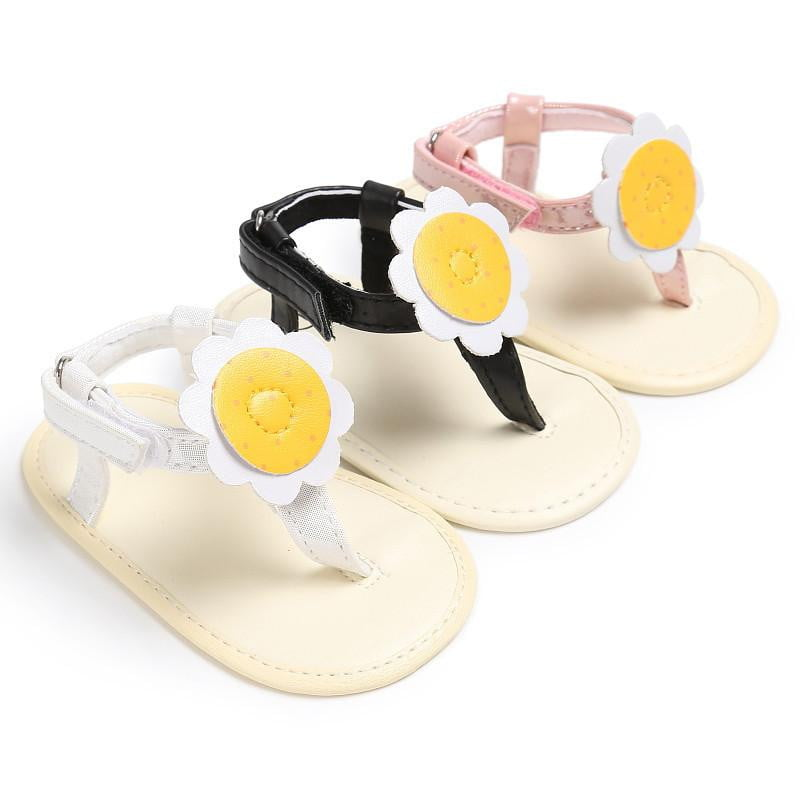 Baby Girl sandals Summer shoes Flower Girls Flip Flops Beach Sandals Bohemia Flat Sandals Baby Kids sun flower sandwich - OurKids.Shop