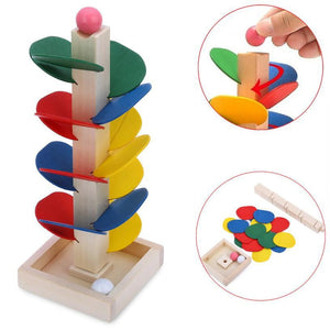 Ball Run Track Game Toy Wooden DIY Mini Tree Baby Kids Education Wooden block Educational toys for children kids - OurKids.Shop