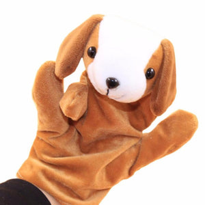 1 PC Baby Kids Child Animal Dog Finger Puppet Plush Baby Favor Dolls Educational Hand Toy Infant Kids Toy Plush Toys - ourkids-shop