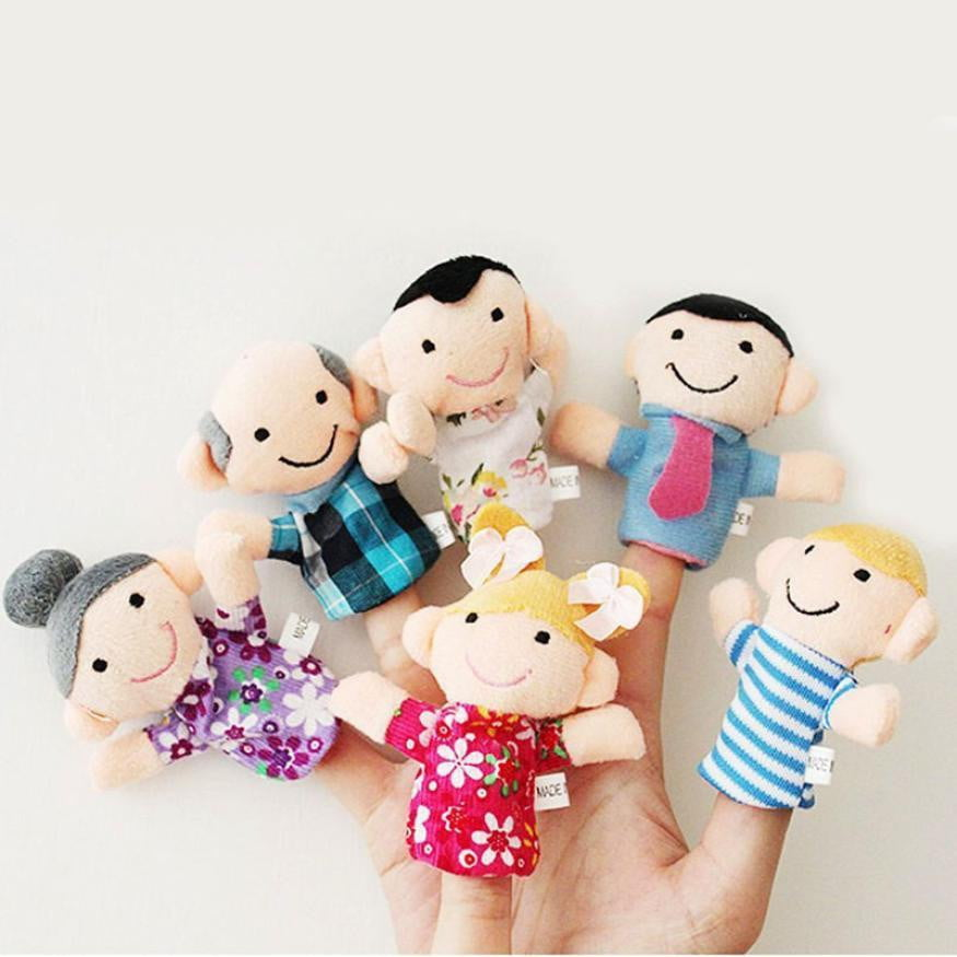 16 pcs Popular Family Finger fantoches de dedo Puppets Cloth Doll Baby hand Toy Story Kids Educational Toys for children baby - ourkids-shop