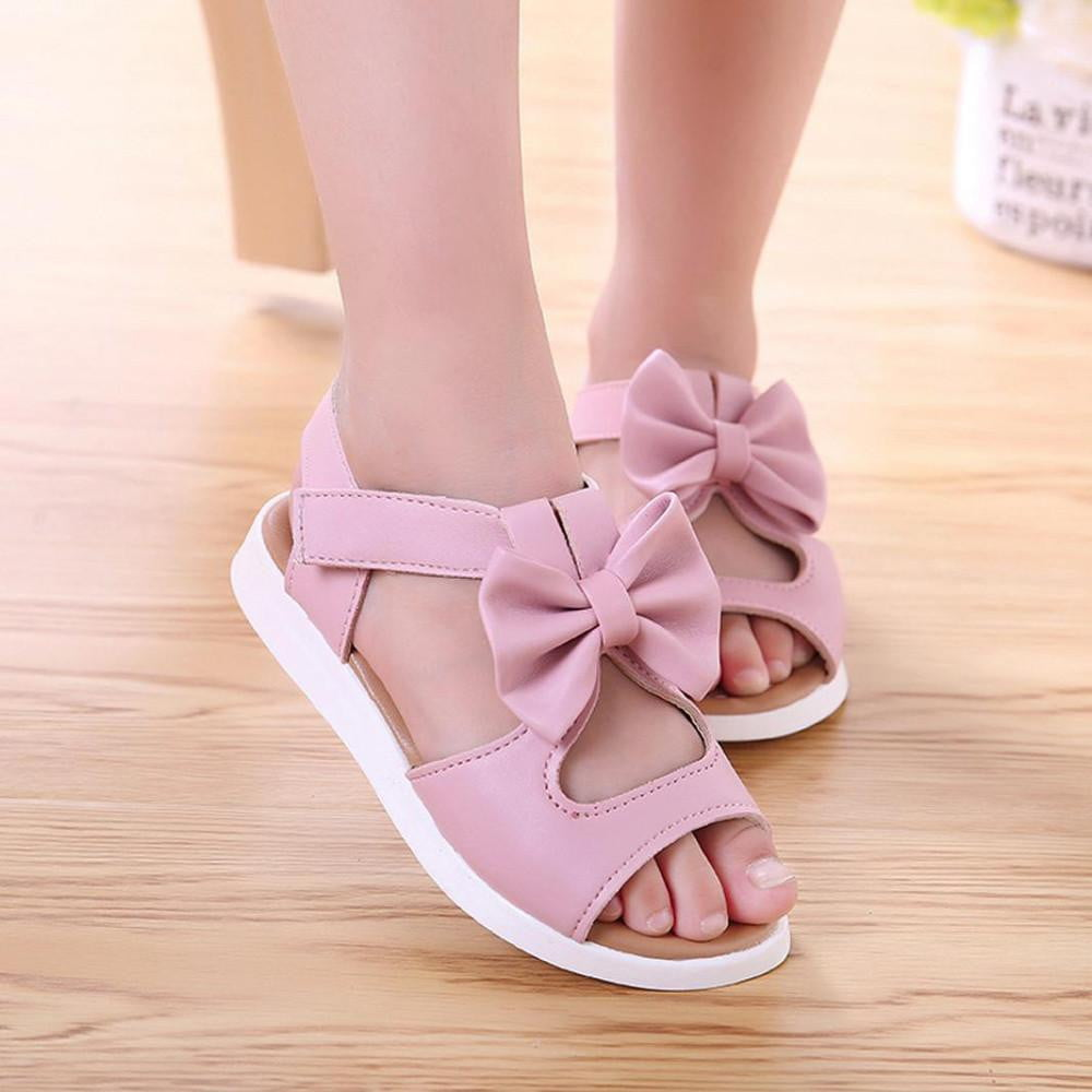 Kids Children girls Sandals Shoes Summer Fashion Bowknot Girls Flat Princess Shoes children's girls shoes - ourkids-shop