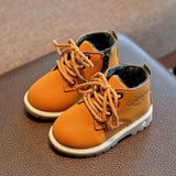 Children shoes Fashion Boys Girls Martin Sneaker Boots Lace Up Kids Baby Casual Shoes - OurKids.Shop