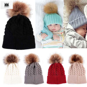 2018 Real Limited Newborn Baby Girl Hat Beanie Toddler Kids Winter Knitted Hats Crochet Warm Caps For Girls Dress Recien Nacido - ourkids-shop