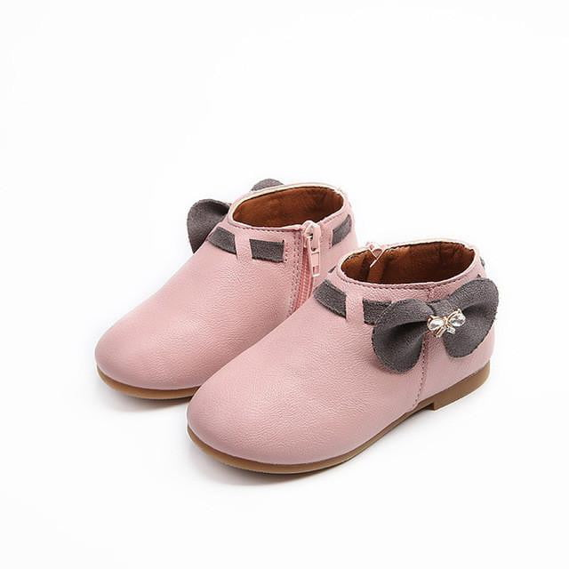 Girls Boots Princess New Toddler Autumn Fashion Bowknot Children Snow Boots Zip Kids Shoes For Girls Sneakers PU - ourkids-shop
