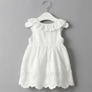 Lace Dress for Girls Toddler Kids Baby Girls Princess Party Clothes Bowknot Sleeveless V-Neck Tutu Dresses Vestidos - ourkids-shop